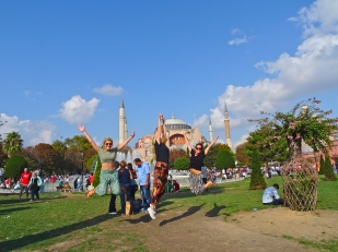 Jumping Istanbul Mosques