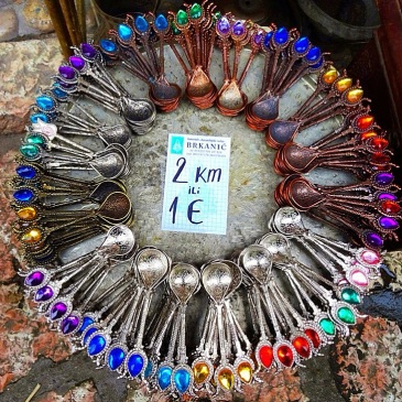 Bosnia: spoons sold in street markets