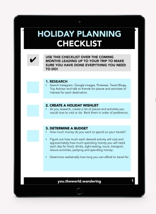 Holiday Planner you.theworld.wandering